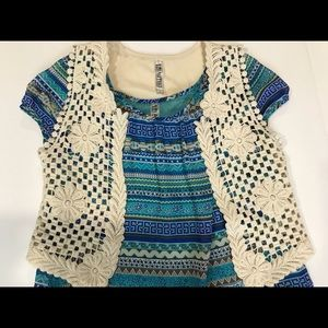 Brand new girls beautees top two piece - L